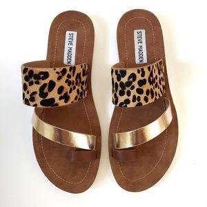 NWOT Steve Madden | Abia Gold Leopard Print Sandal